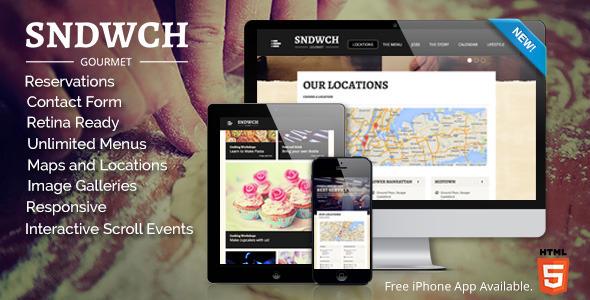 SNDWCH - Restaurant WordPress Theme