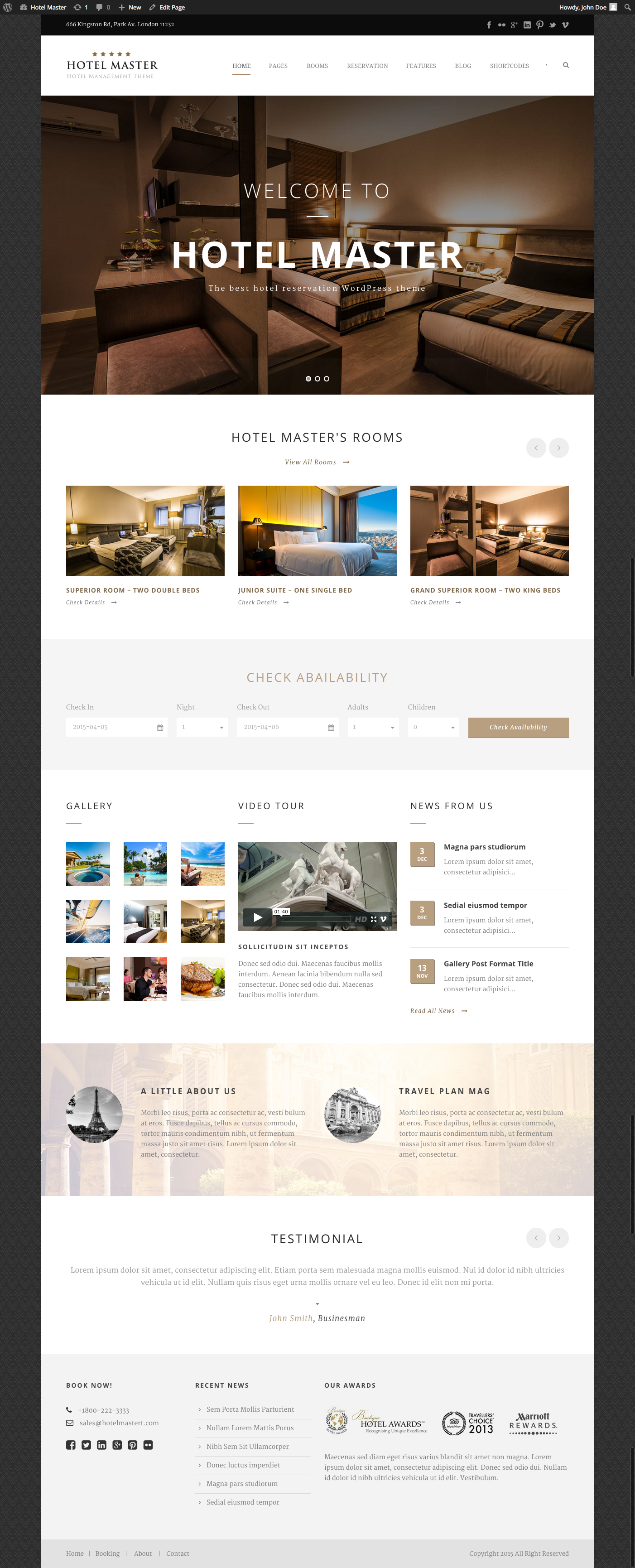 Hotel WordPress Themes Hotel WordPress Theme | Hotel Master by GoodLayers | ThemeForest