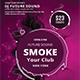 Electro Smoke Futuristic Flyer