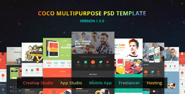 Coco - Multipurpose PSD by myboodesign