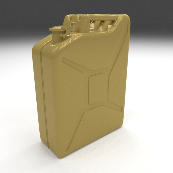 Jerry Can Yellow - 3DOcean Item for Sale