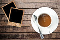 Coffee cup on wood texture. - PhotoDune Item for Sale