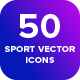 Backyard: 50 Stroke Vector Sport Icons