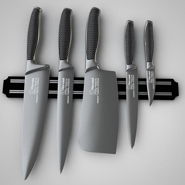 Knife Set - 3DOcean Item for Sale