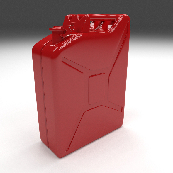 Jerry Can Red - 3DOcean Item for Sale