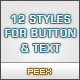 12 Modern Styles for Buttons & Text - GraphicRiver Item for Sale