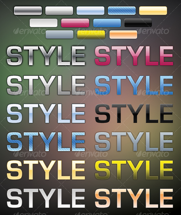 GraphicRiver 12 Modern Styles for Buttons & Text 50579