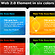 web 2.0 elements in six colors - GraphicRiver Item for Sale