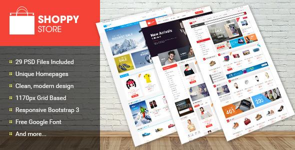 Shoppy Store - Multi-Purpose eCommerce PSD Theme