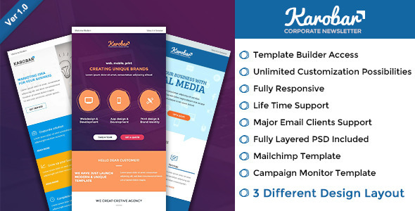 Karobar - Multipurpose Email + Builder Access