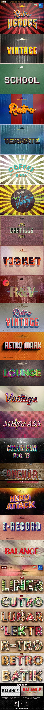 27 Retro & Vintage Style Bundle