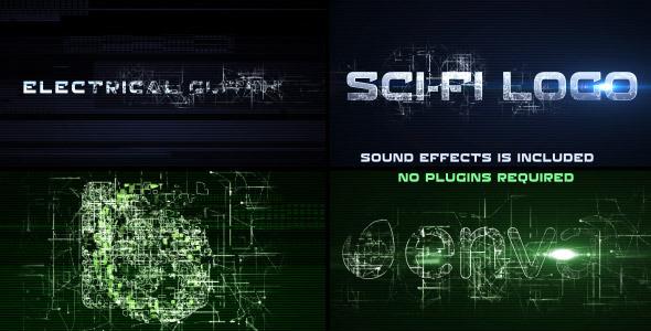 AE模板:高科技电子商业公司企业宣传片头未来网络科技展示模版Sci-Fi Electrical Glitch免费下载