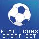 Flat Icons Sport Set