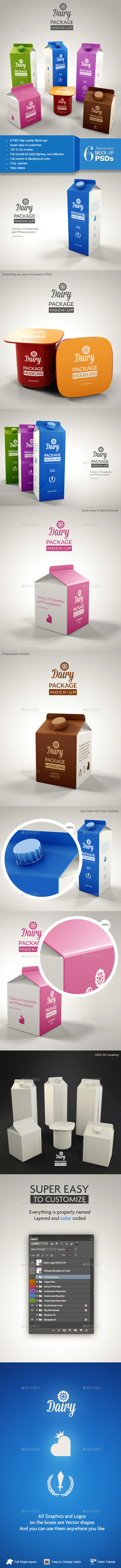 Dairy Branding Package Mock-up