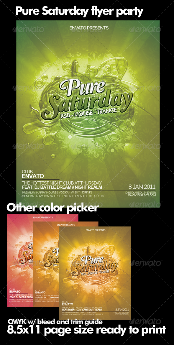 GraphicRiver Pure Saturday Party Flyer 152502