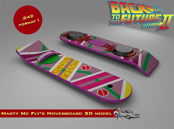 Marty McFly's Hoverboard - 3DOcean Item for Sale