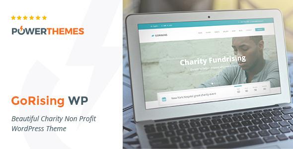 GoRising - Charity Non-Profit Fundrising WP Theme