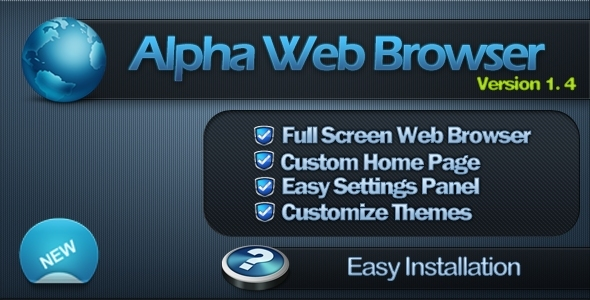 Alpha Full Screen Web Browser