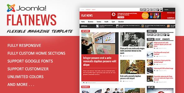 FlatNews - Magazine Joomla Template