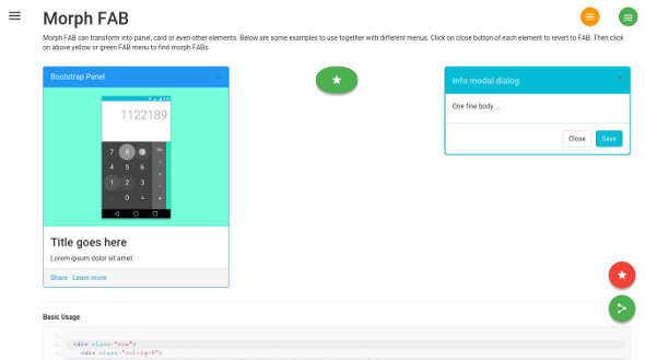 BMD - Bootstrap + Material Design - 2
