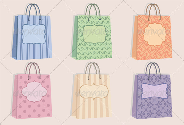 Shopping Bags With Labels