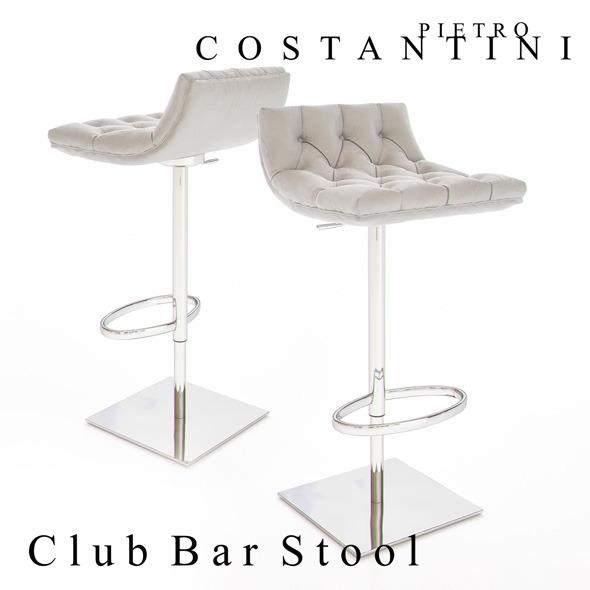 Constantini Pietro Club Bar Stool - 3DOcean Item for Sale