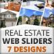 Real Estate Web Sliders 7 designs