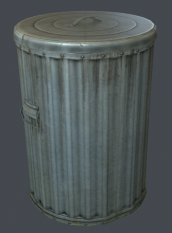 Trash Bin - 3DOcean Item for Sale