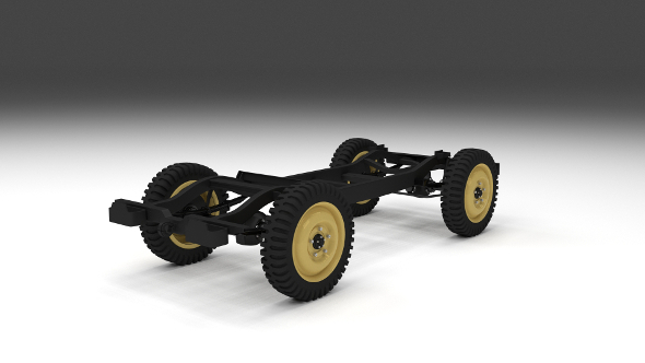 Jeep Willys Chassis - 3DOcean Item for Sale