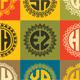 25 Monogrames Badge Labals With Alphabet v3