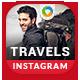 Tours & Travels Instagram Templates - 8 Designs