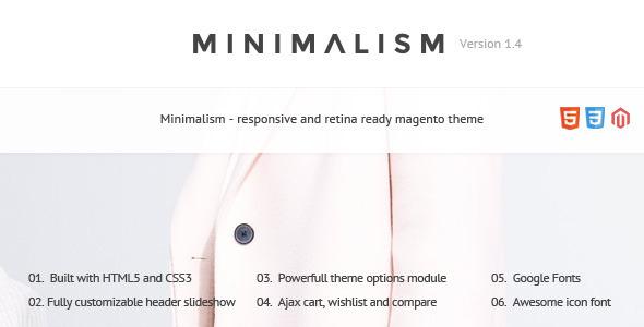 Minimalism - Responsive Magento Theme