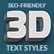 Animated 3D Text Styles - SVG - CodeCanyon Item for Sale