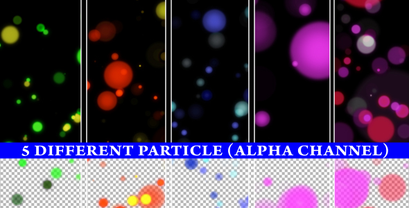 Stock Video - VideoHive Alpha Particle 5 Different animations 152645