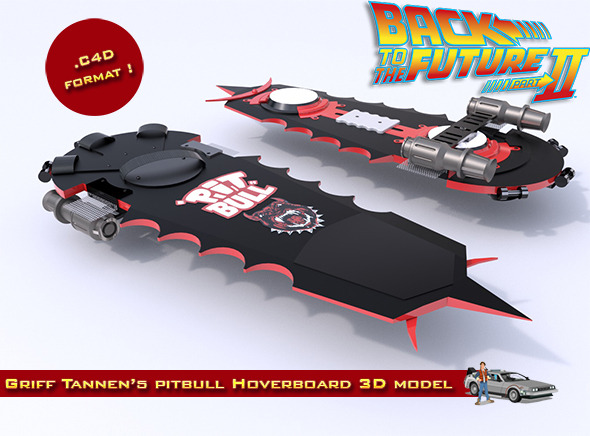 Griff Tannen's Pitbull Hoverboard - 3DOcean Item for Sale