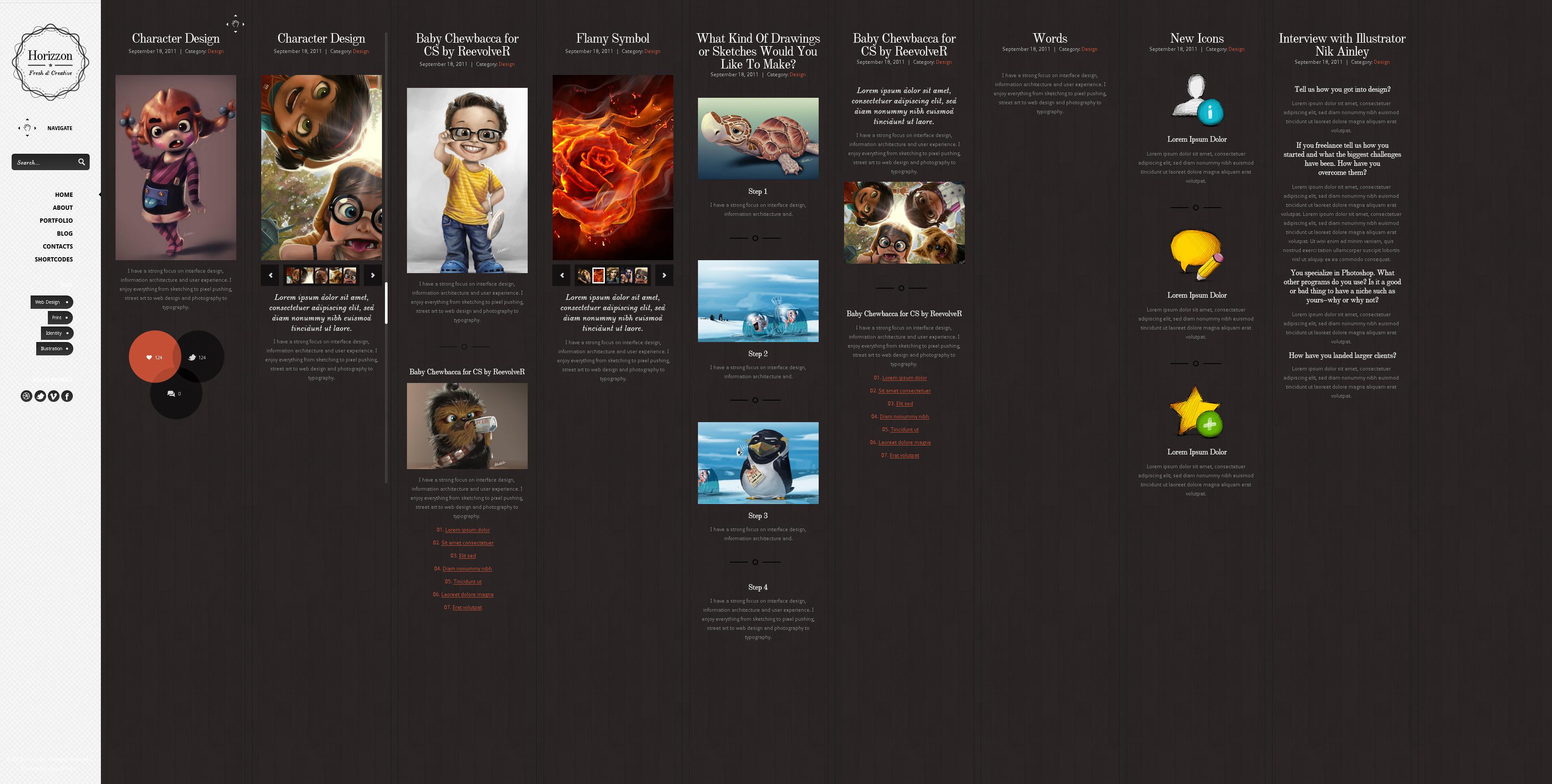 Horrizon - Unique Website Template