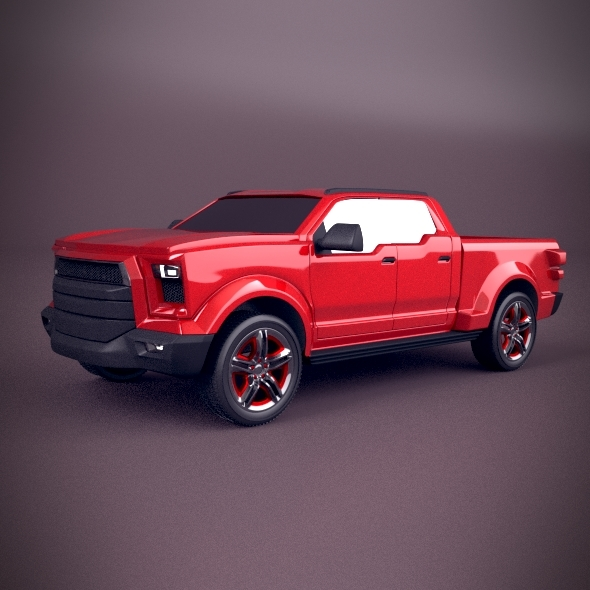 Pickup concept vehicle - 3DOcean Item for Sale