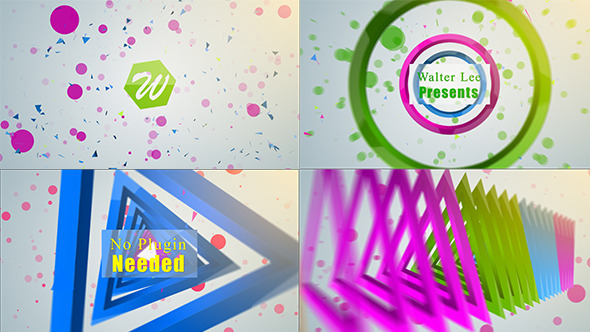 AE模板:五彩缤纷三维折叠变幻运动图形企业公司LOGO片头动画演绎标志模版包 Shape Logo Reveal 5 In 1免费下载