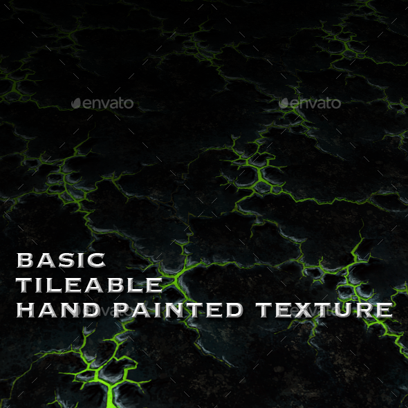 Tainted Poison Ground - Seamless Hand Painted - 3DOcean Item for Sale