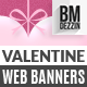 Valentine's Day Gifts Promotion Web Banners