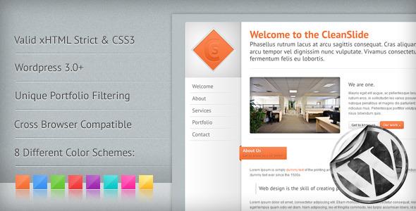 ThemeForest CleanSlide A Premium Clean Wordpress Theme 152273