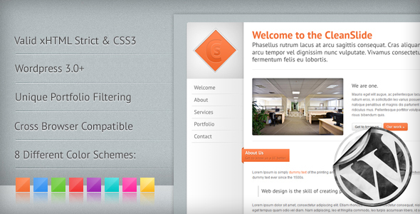 CleanSlide: A Premium Clean Wordpress Theme