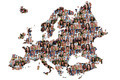 Europe map multicultural group of young people integration diversity