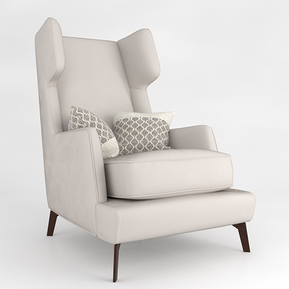 Vibieffe High Back Armchair - 3DOcean Item for Sale