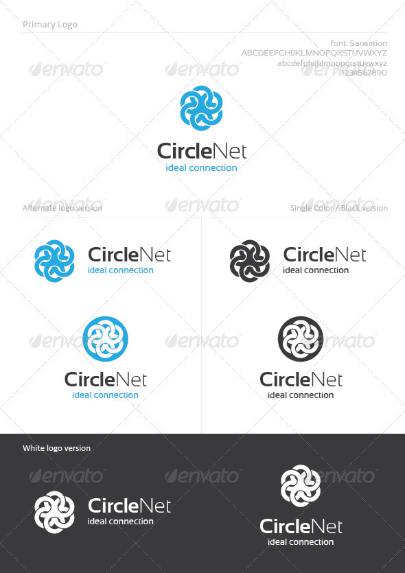 Circle Net - Abstract Logo Templates