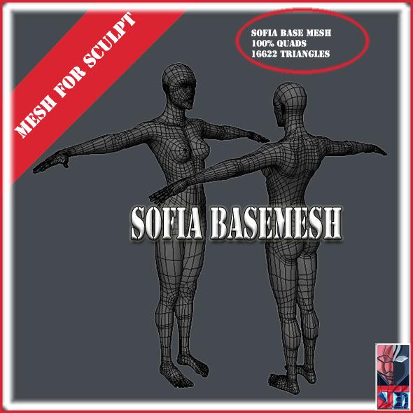Sofia Base Mesh - 3DOcean Item for Sale