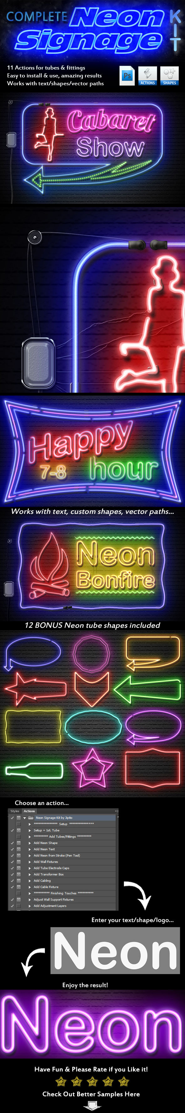 Complete Neon Signage Kit