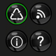 Green Glow icon set - ActiveDen Item for Sale