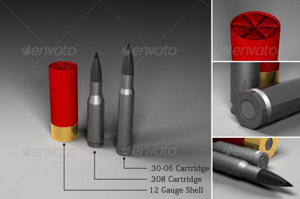 3DOcean Rifle & shotgun ammunition 152916