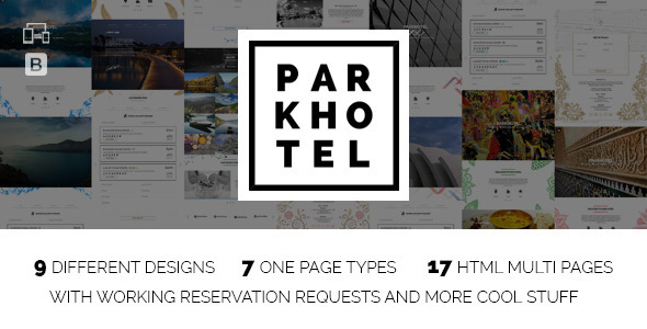 Parkhotel - Accommodation Multiple Designs HTML